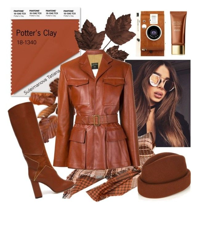 """#Pantone f/w 2016-17 Potter's Clay"" by sultana24 on Polyvore featuring Gigi Burris Millinery, LØMO, Jean-Paul Gaultier и Faith Connexion"