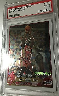 2003-04 #topps chrome rookie #card: lebron #james #111 cleveland cavs rc psa 9 mi,  View more on the LINK: 	http://www.zeppy.io/product/gb/2/301668372754/