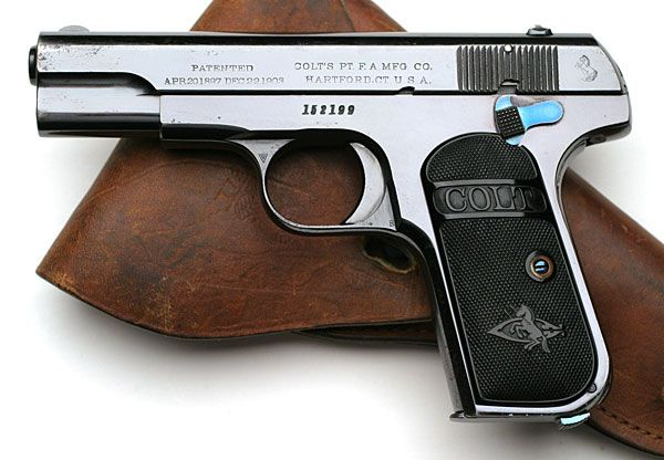 Colt Pistols and Revolvers for Firearms Collectors - Model 1903 .32 ACP & Model 1908 .380 ACP Pocket Hammerless Standard Variation Type III