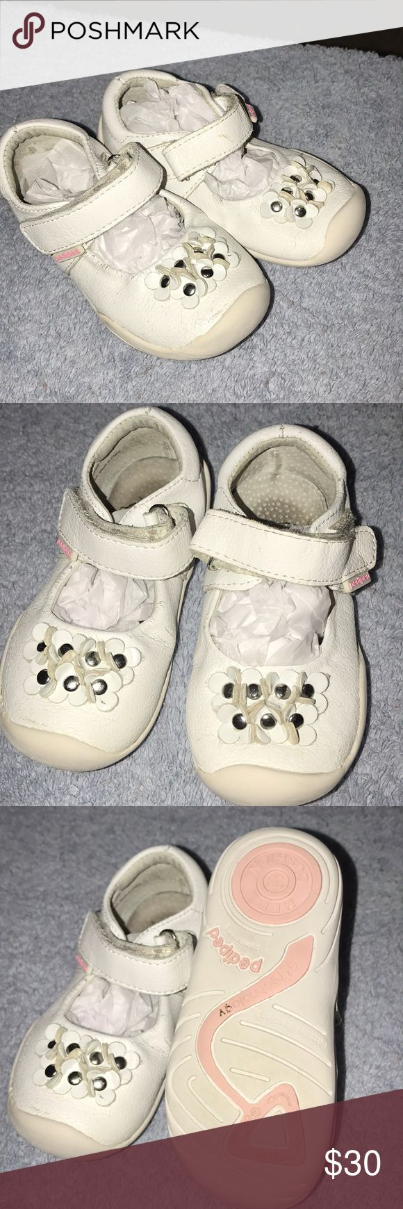 Pediped Toddler size 7 Pediped toddler size 7 -used condition -white -leather  -super cute -please see pictures pediped Shoes Moccasins