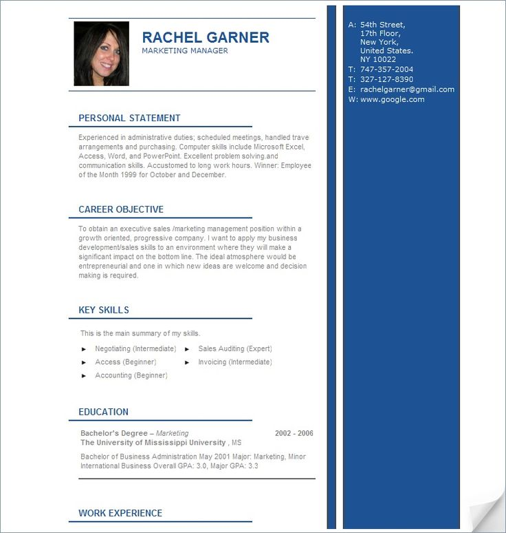 517 best Latest Resume images on Pinterest Latest resume format - bar manager sample resume
