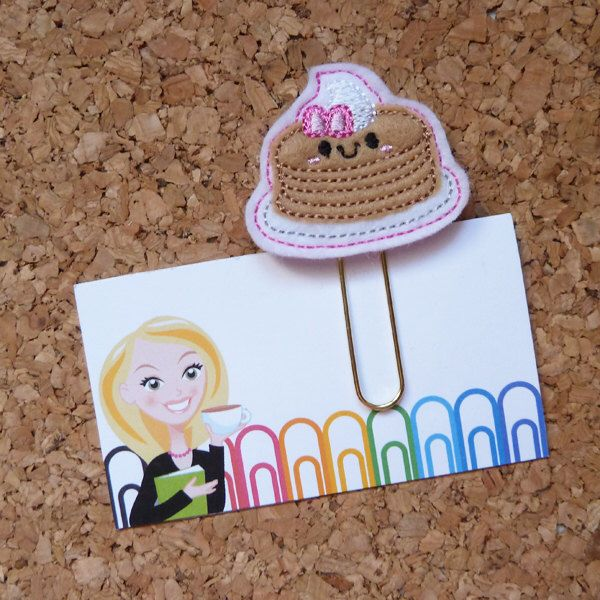 Felt Pancakes Bookmark/ Paper Clip/ Refrigerator Magnet/ Brooch by TheBookNookPatch on Etsy