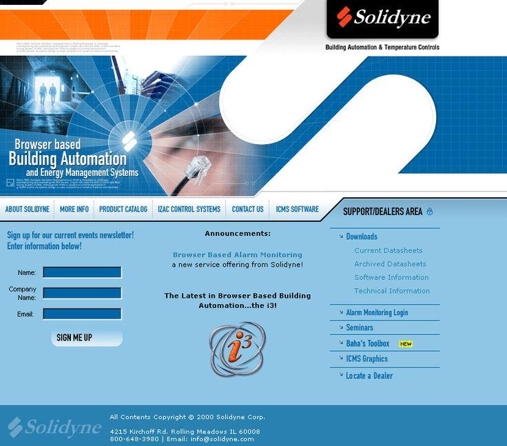 Solidyne website in 2002