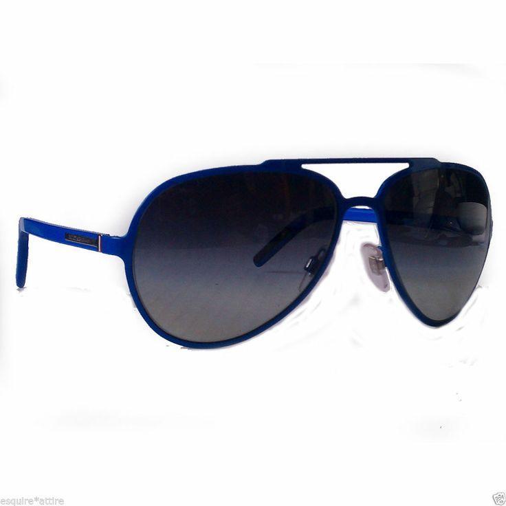 Dolce&Gabbana sunglasses DG2081 (60x15x135) blue frame black lenses made in  Ital