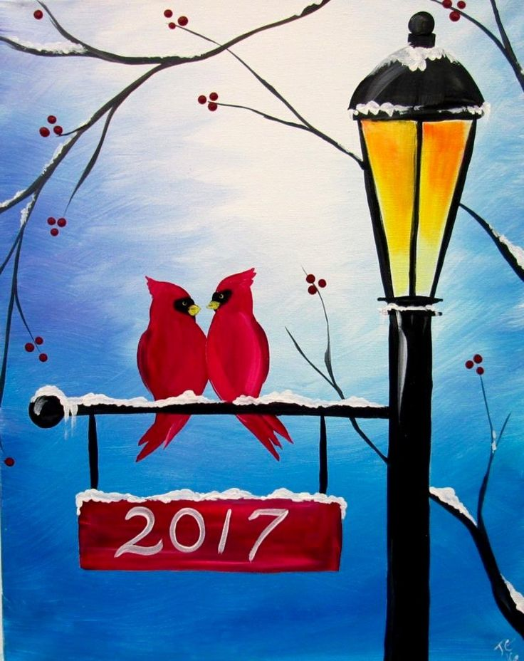 Lamp Post in Winter | Painting Ideas | Pinterest ...