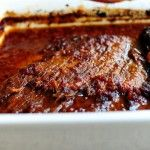 Pioneer Woman's passover brisket in her cook book it's called tangy tomato brisket. making with mac and cheese