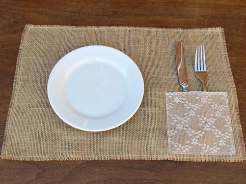 Burlap & Lace Placemats from Rustic Living