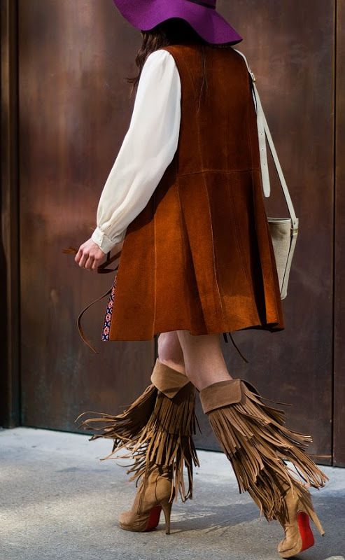 #fringed #boots #boho#hippie #streetstyle #sotd #fransen #stiefel #kikisisland
