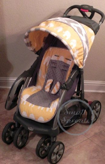 Custom Boutique Stroller Seat Cover and Canopy by smallsproutsbaby $149.00 & 30 best Custom Stroller Covers images on Pinterest | Stroller ...