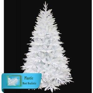Δέντρο Sparkling White 240cm λευκό με πλαστικό και glittered φύλλωμα