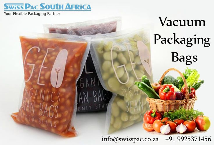 Swiss Pac provides stock as well as custom printed #VacuumPackagingBags before sealing excessive air is removed which prevents crushing of delicate foods. It has Euroslot & cut-out handles.  Visit http://www.swisspac.co.za/vacuum-packaging-bags/