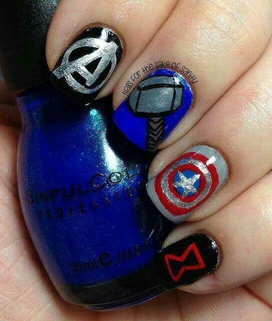 Capitán América uñas