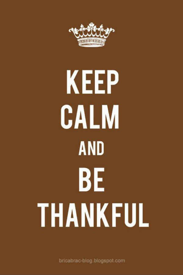 """""""Keep Calm & Be Thankful."""" Gratitude is not only uplifting; it also invites more blessings & inspires more thankfulness. It's choosing to be grateful, even for the challenges. Gratitude is the Best Prayer & the Key to Happiness. ~RMP"""