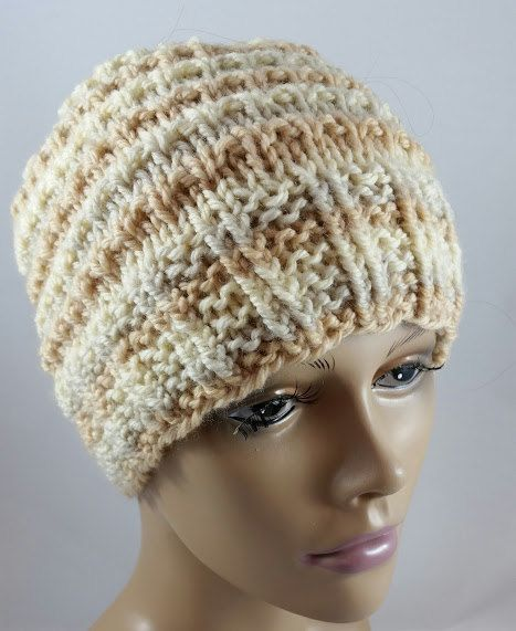 Striped Ski Hat  Winter Ski Hat  Womens Ski Hat  by HideyHoleHats