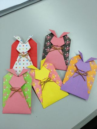 うさぎのぽち袋の折り方動画 | 花うさぎのお茶時間