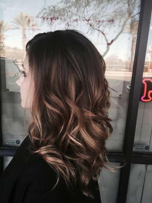 Brunette Blonde Highlighted Long Hair