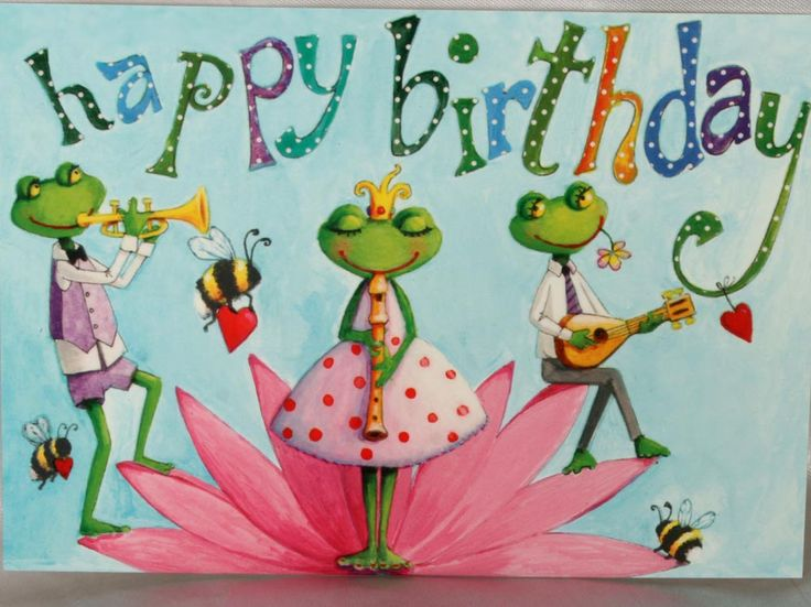 frogs :-) HAPPY BIRTHDAY (by: Mila Marquis)