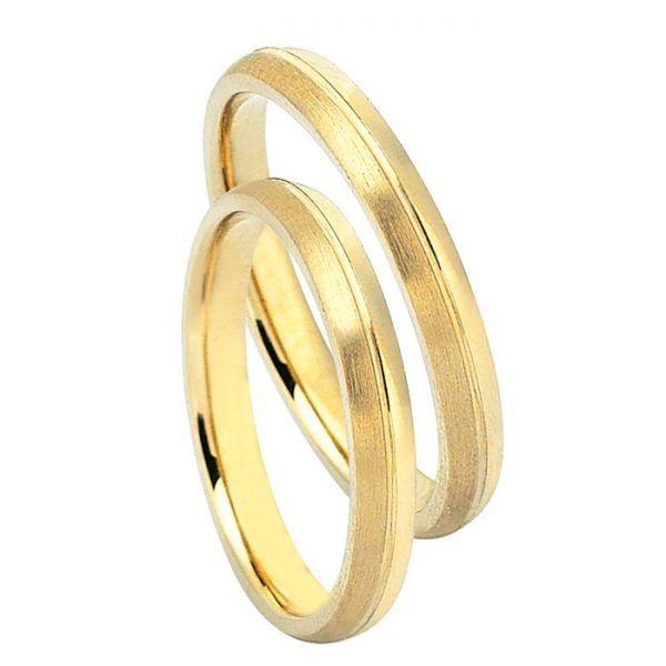 Βέρες γάμου Decagold χρυσό Κ14