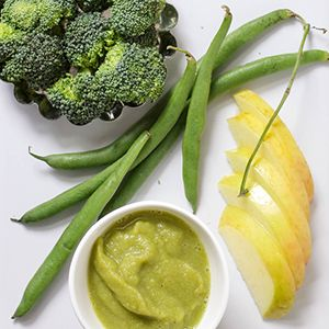 Apple + Green Beas + Broccoli Puree                                                                                                                                                                                 More