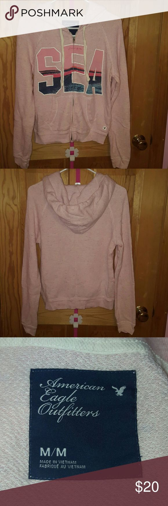 American Eagle Sweatshirt I got this one as a gift so there is no tag. However, since it is size M, it's too big for me. Never be worn. American Eagle Outfitters Tops Sweatshirts & Hoodies