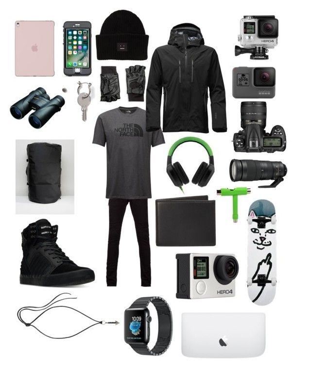 """""""Hunter"""" by vejacomotenpovoa ❤ liked on Polyvore featuring GoPro, Mr. Completely, Nikon, Razer, Topman, Hilts Willard, LifeProof, Acne Studios, The North Face and The Men's Store"""