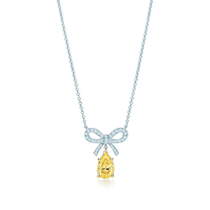 All things tiffany co 203 pinterest tiffany yellow diamond bow pendant in platinum and 18k gold with diamonds tiffany mozeypictures Image collections