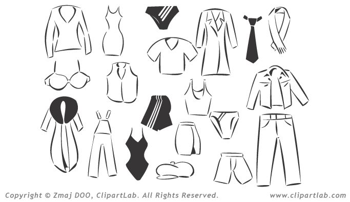 40+ Clipart Black And White Dress