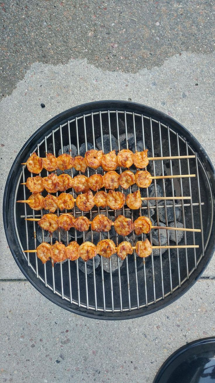 Awesome shrimp on a charcoal grill charcoal grill
