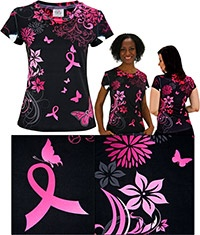 Midnight Garden Pink Ribbon Tee at The Breast Cancer Site