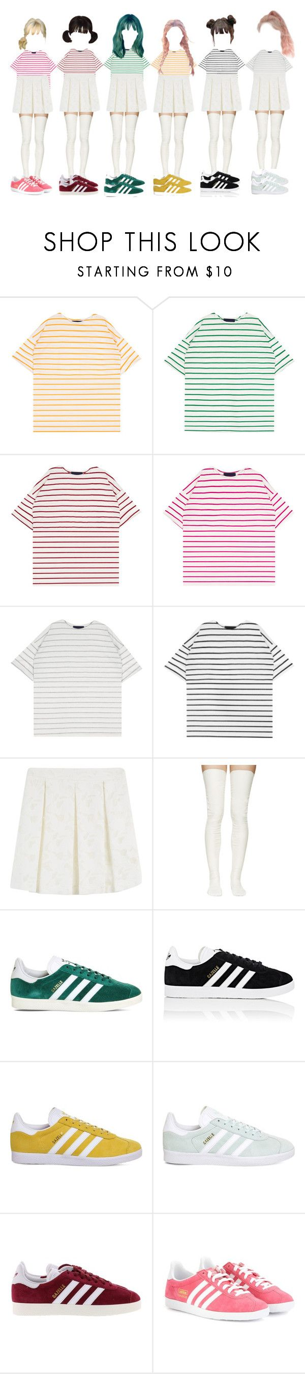 """""""DC-Honey"""" by yonce4park ❤ liked on Polyvore featuring Paul & Joe, Sacai Luck and adidas"""