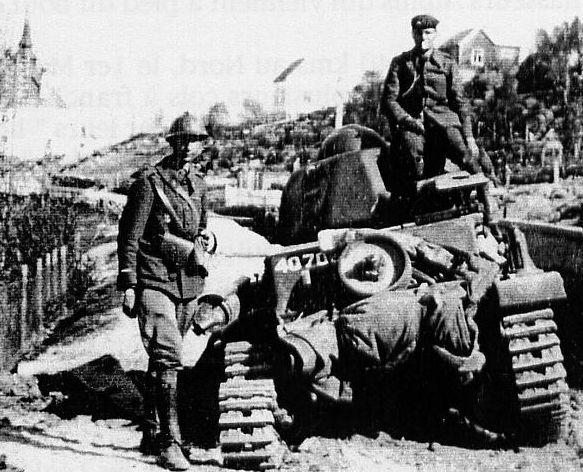 Narvik 1940  Un corps expéditionnaire composé des 6e et 27e demi-brigades de chasseurs alpins,puis d'un groupement de haute montagne en majorité composée d'anciens républicains espagnols, et de bataillons de chasseurs polonais y furent engagés, soit 24 500 soldats alliés contre 5 600 soldats allemands( des Gebirgsjägers en majorité)