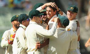Mitchell Starc leads Australia to dramatic Melbourne Test win over Pakistan Australia defeat Pakistan by an innings and 18 runs at the MCG Mitchell Starc the hero with 84 runs and four late wickets