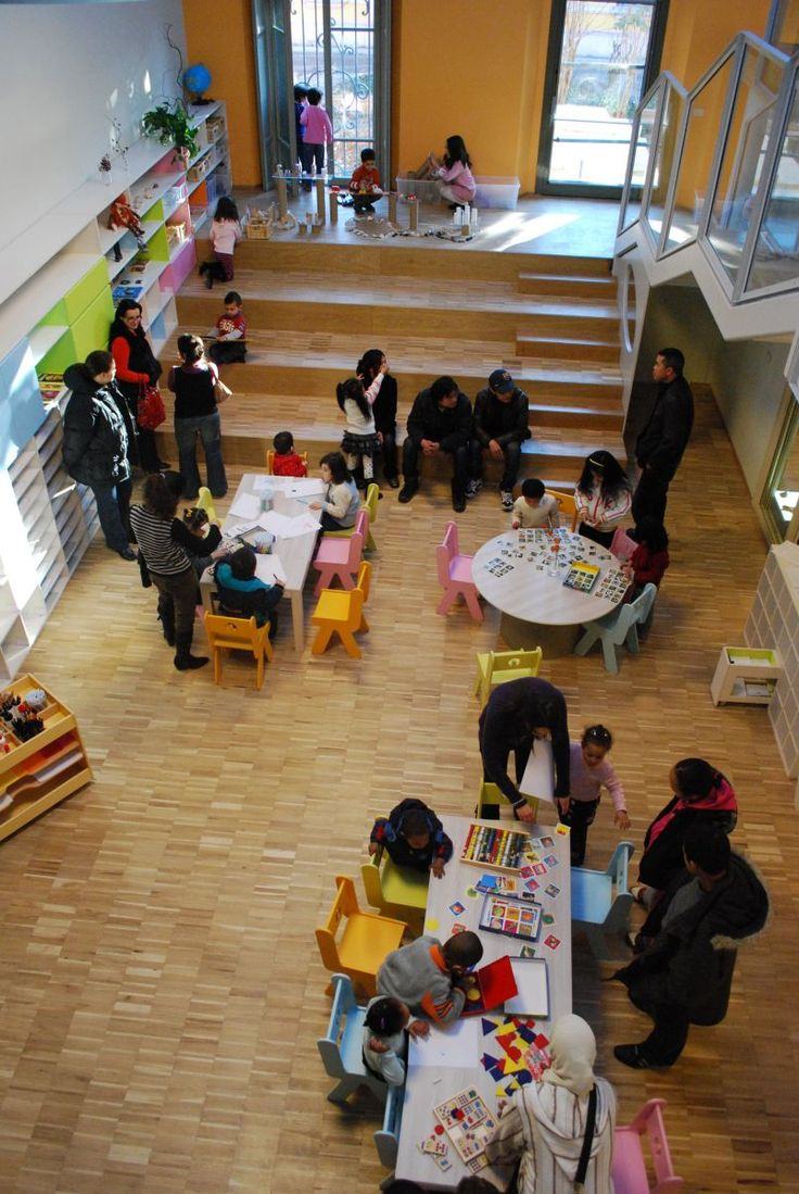 Reggio - school in the Loris Malaguzzi center. The steps