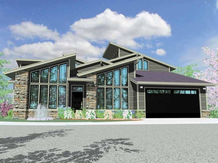 contemporary modern house plan with 2662 square feet and 3 bedrooms from dream home source