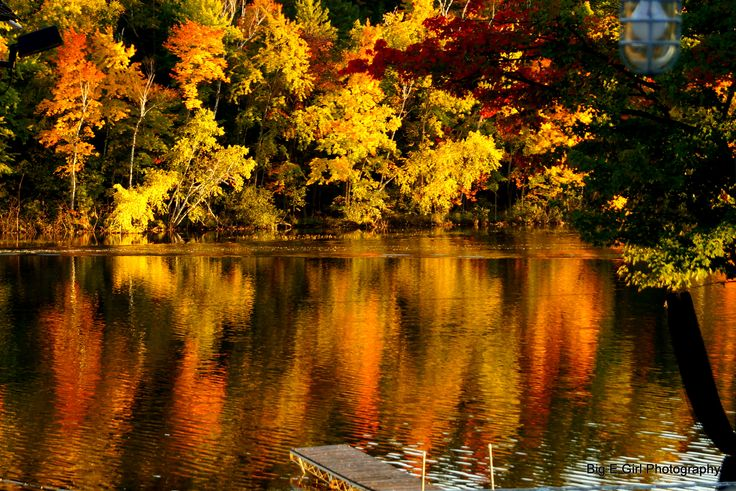 Nothin' quite like a stunning view of fall foliage over a lake in Wisconsin's Northwoods.