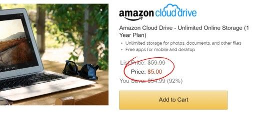 Amazons best Black Friday deal might be a $5 subscription for unlimited cloud storage