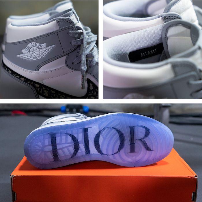 ▷ La fameuse Dior x Air Jordan 1 a fait ses premiers pas à Miami ...
