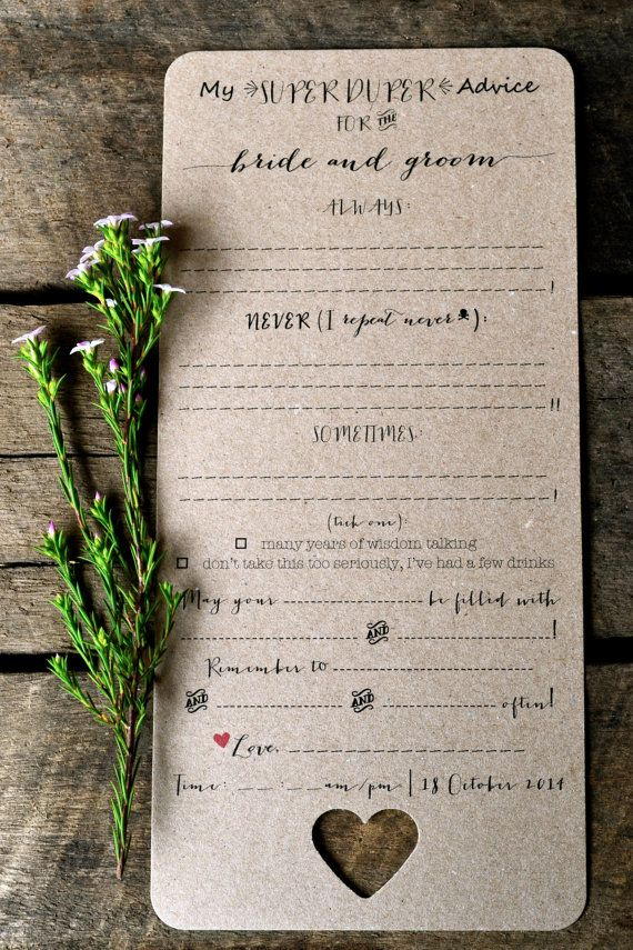 Custom Listing for SarahWedding Madlibs Advice by LaPommeEtLaPipe