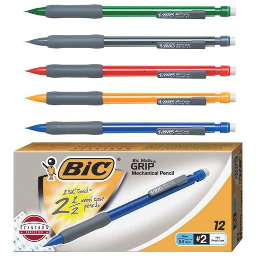 BIC Bicmatic 0.5mm Grip Mechanical Pencil (BICMPFG11) - 12 Pack..Need the grips for my sweaty palms during tests and skill testing questions! Love it!! #SetMeUpBBY   - Online Only