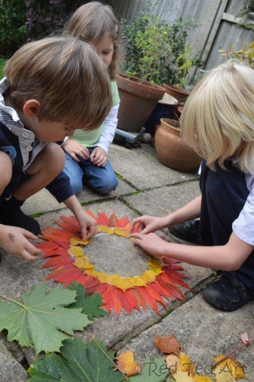 Exploring Andy Goldsworthy with kids