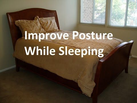 improve posture while sleeping youtube uses rolled towels for spine support
