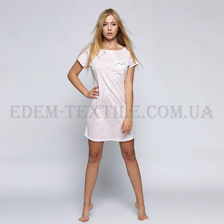 Сорочка женская ночная Sensis Karen розовая    Ткань: мягкий стрейчевый трикотаж Состав: 46% хлопок, 46% полиэстер, 8% эластан Производитель: Польша