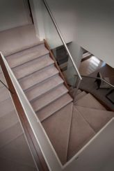 carpeted staircase. ask your local solomons retailer for a suitable product