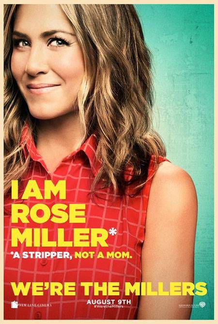 Jennifer Aniston, Jason Sudeikis, and Emma Roberts lie their faces off in We're The Millers character posters.