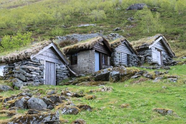 """Vernacular architecture: """"I was driving through a remote valley in Norway and came across these nine old milkmaid huts clustered on a mountainside. They were extraordinary and caught my attention right away. When I travel in general, I try to look at the seemingly 'undesigned' structures that are everywhere. Sheds, barns, storage buildings, dwellings, warehouses — these can demonstrate so much about the character and climate of a place because they're usually reduced to their most essential…"""