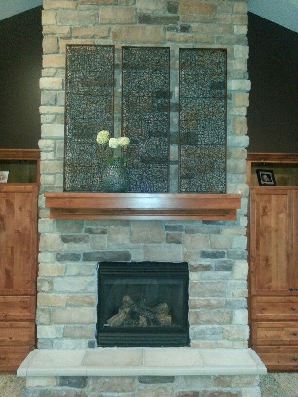 Decorating A Tall Brick Fireplace Mantle Home Decor That