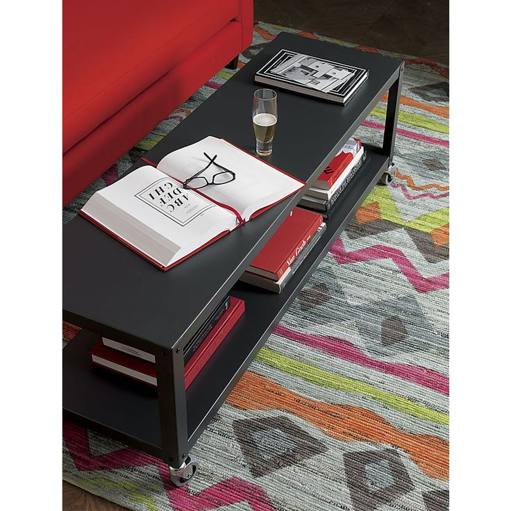 gocart carbon rolling tv standcoffee table
