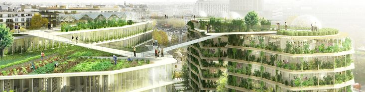 Lush green oasis and rooftop farm will reinvent Paris streets