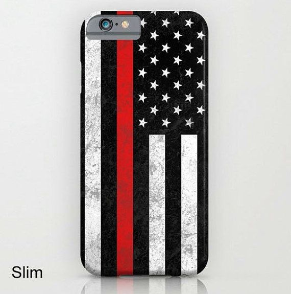 Thin Red Line iPhone iPod Samsung Galaxy Phone Case by ForgetSundayDrives Firefighter. Firefighters. Firemen. Fireman. Firefighter Wife. Phone Case. First Responder. Fire Responders. The Thin Red Line. American Flag. Black and White. Gifts for him. Gifts for her. FDNY. Fire Department. Distressed. Phone Sticker. iPhone 7. iPhone 7Plus. iPhone 7 Plus. Apple. Cover. Phone Accessories.