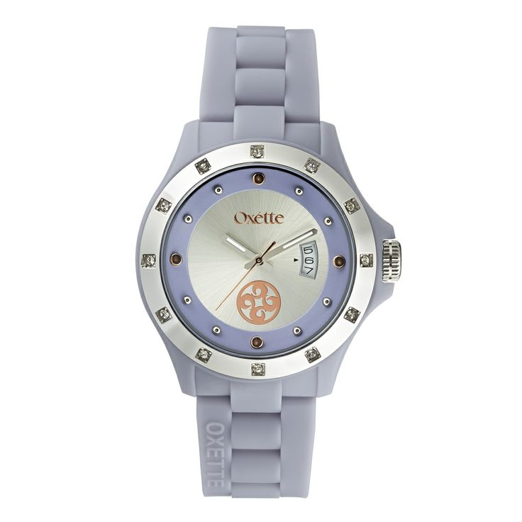 Oxette  Light Blue  Pop Watch - Available here http://www.oxette.gr/rologia/st.steel-watch-purple-silicon-crystals-653l-1/   #oxette #OXETTEtimewear #OXETTEwatch #watches